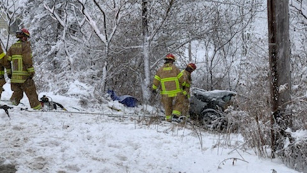 Woman rescued from car after crash with plow in Ithaca