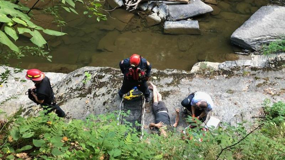Hiker rescued from steep gorge in Ithaca after fall