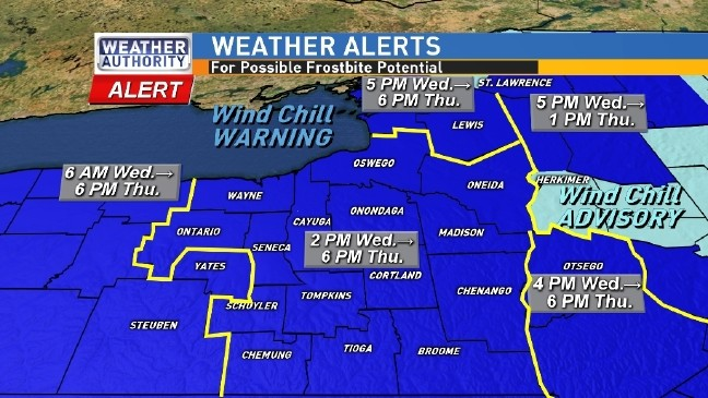 Wind Chill Lake Snow Alerts In Effect