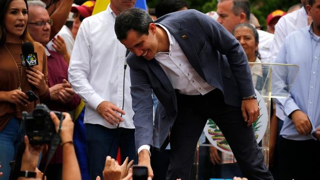 Venezuela's Guaidó wants to open up relations with U S  military | WSTM