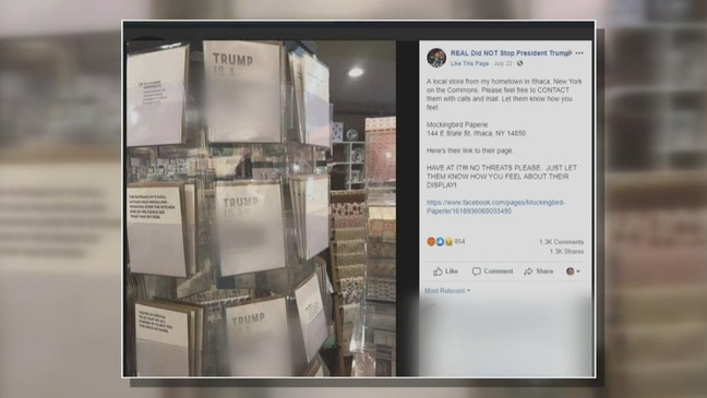 Ithaca business claims to have received death threats over President Trump greeting cards
