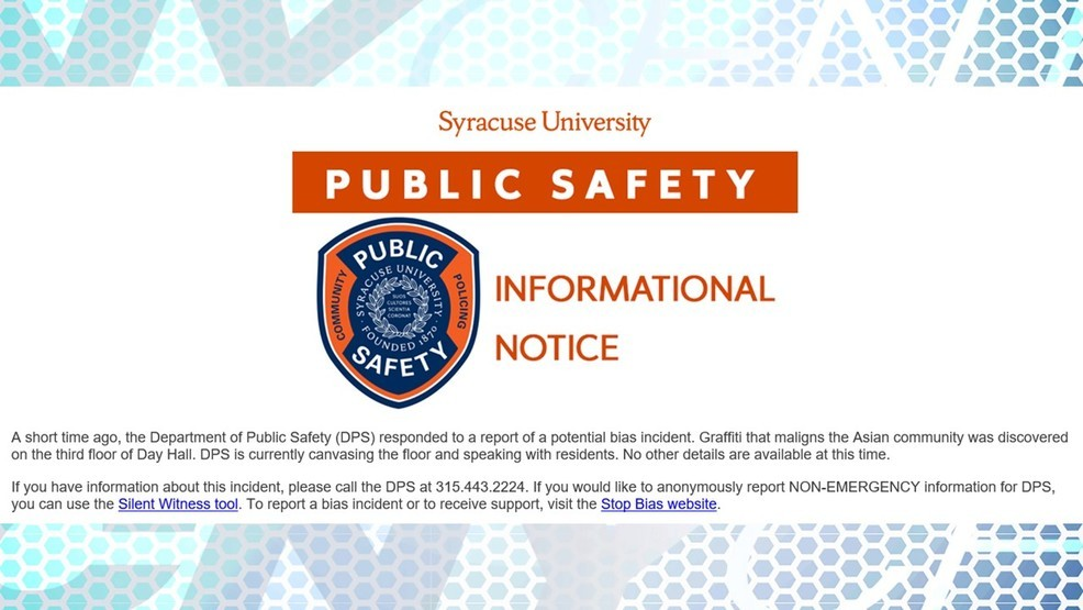 New incident of racism reported on edge of SU campus