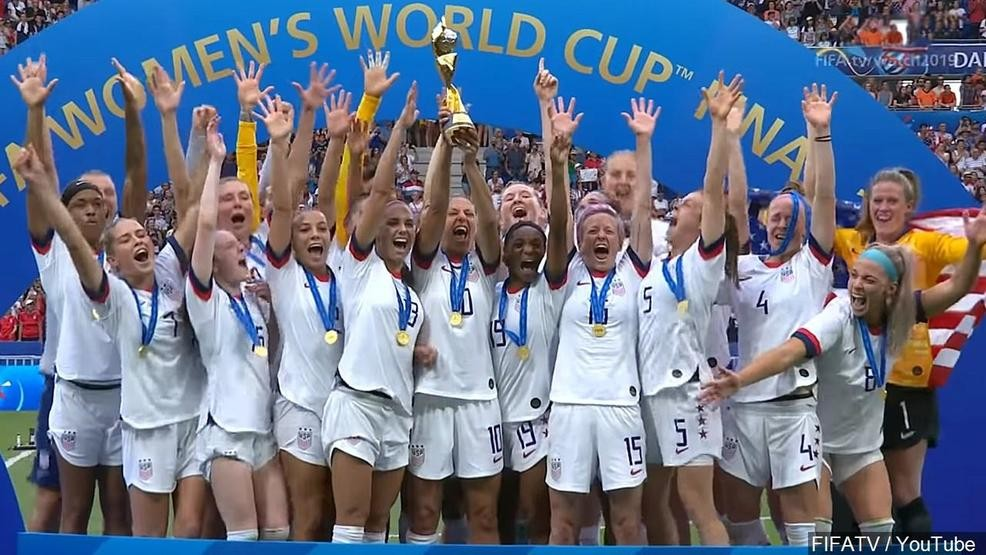 New York expands pay equity law on day honoring US soccer team