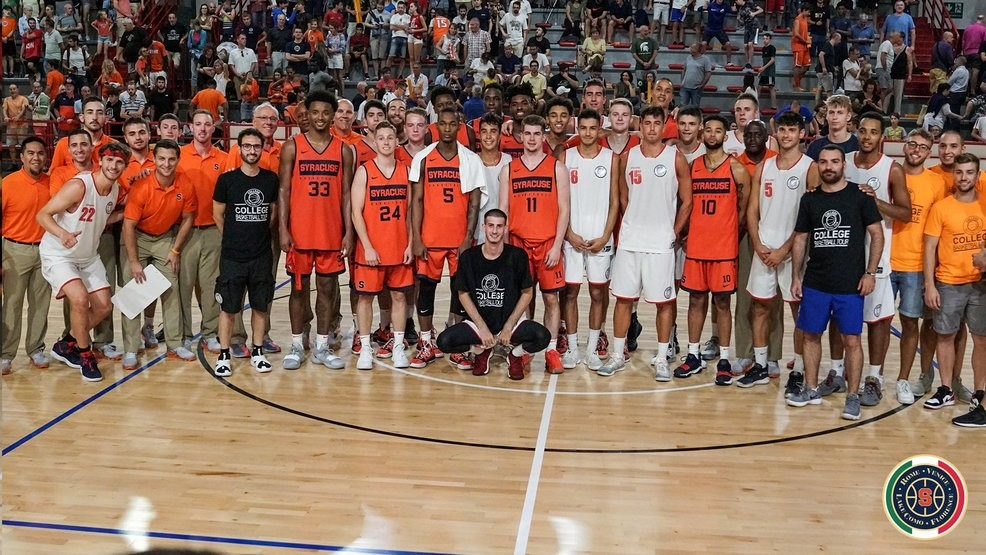 Syracuse Basketball Wins First Exhibition Game In Italy Wstm