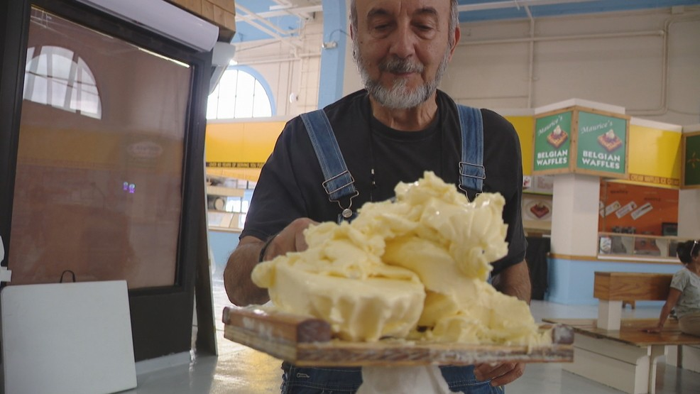 Butter sculptors tease reveal of this year's sculpture at the NY State Fair