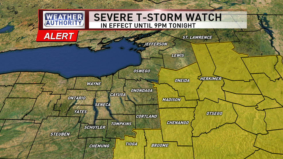 Severe Thunderstorms For Parts Of Cny Friday Pm Wstm