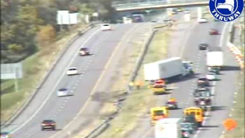 Tractor Trailer accident causes traffic back up on I-90 WB